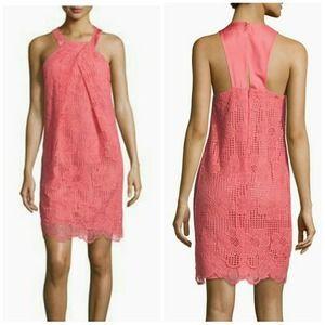 Trina Turk Felisha Guava Halter Lace Dress NWT